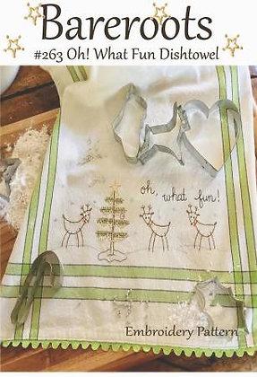Bareroots #263 Oh! What Fun Dishtowel Kit