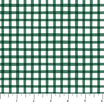 A Life in Pattern - Gingham - Green - 1/2 meter