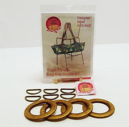 Yoga Fitness Bag Hardware Kit - Antique Brass