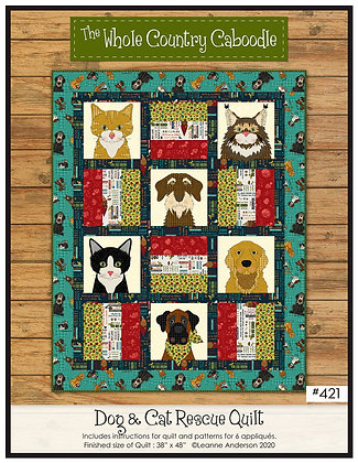 Dog & Cat Rescue Quilt Pattern