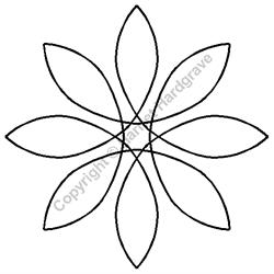 "Stencil - Pinwheel - 5"""