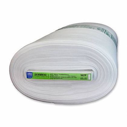 """987F - Fusible Fleece White - 45"""" wide (by the half meter)"""