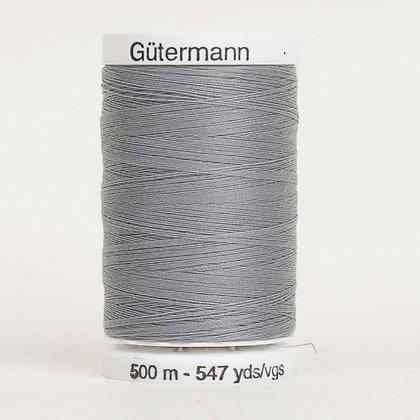 Gutermann 100% Polyester Thread - 500m - Slate Grey