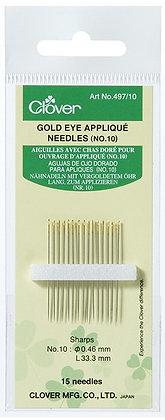 Gold Eye Applique Needles No. 10