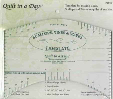 Scallops, Vines & Waves Template