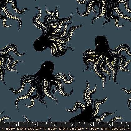 Darlings by Ruby Star Society - Octopus - Smoke - 1/2 meter