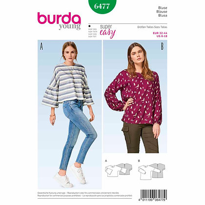 Burda Young Blouse Pattern #6477