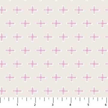 A Life in Pattern - Cross - Gray - 1/2 meter