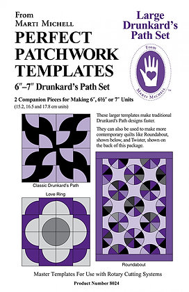 Large Drunkard's Path Set - Marti Michell