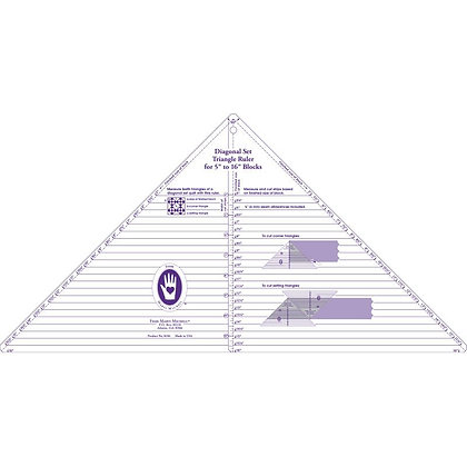 Large Diagonal Set Triangle Ruler - Marti Michell