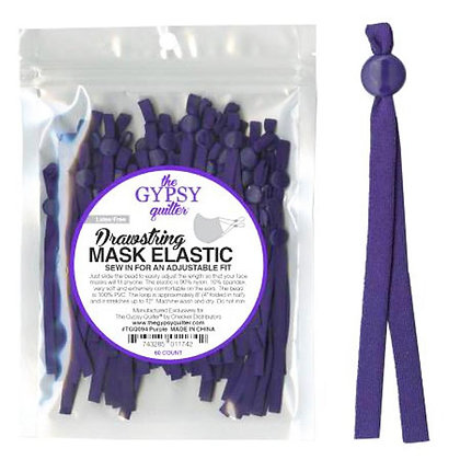Drawstring Mask Elastic - Purple