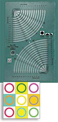 Creative Grids Non-Slip Circle Savvy Ruler