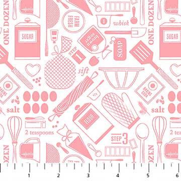 Rolling Pin - Recipes Pink - 1/2 meter