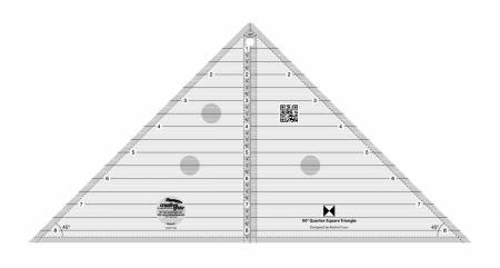 90 Degree Quarter-Square Triangle Ruler - Creative Grids