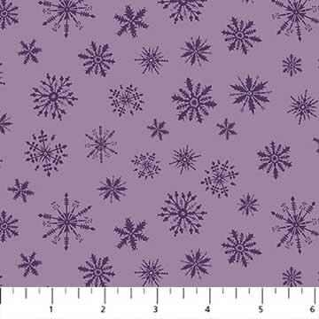 Cozy Up - Snowflakes Lilac - 1/2 meter