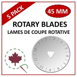 Rotary Blades - 45mm - 5 Pack