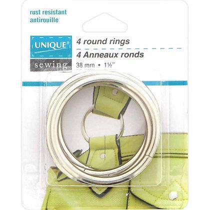 "Round Rings Metal - 1-1/2"" - Silver"