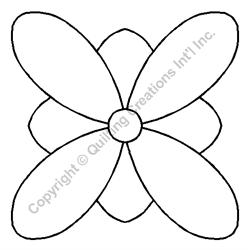 """Stencil - Flower - 5"""""""
