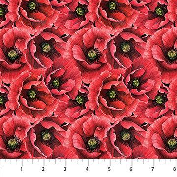 Ooh La La - Packed Poppies - 1/2 meter