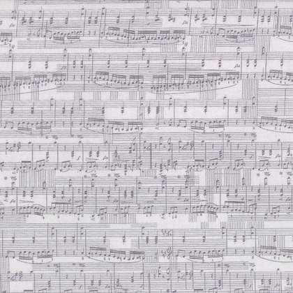 Compositions - Music Notes Taupe/Grey - 1/2 meter