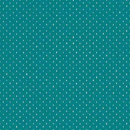 Stitch and Repeat - Teal - 1/2 meter