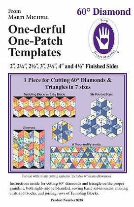 60 Degree Diamond Template - Multi Size - Marti Michell