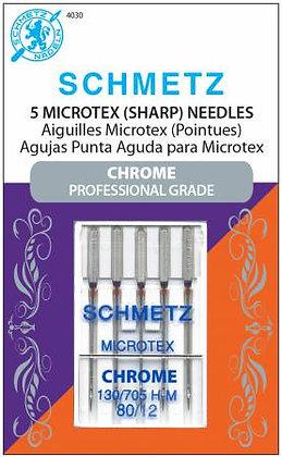 Chrome Microtex Schmetz Needle - Size 80/12