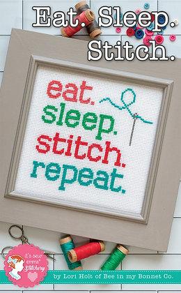 Eat.Sleep.Stitch Cross Stitch Pattern