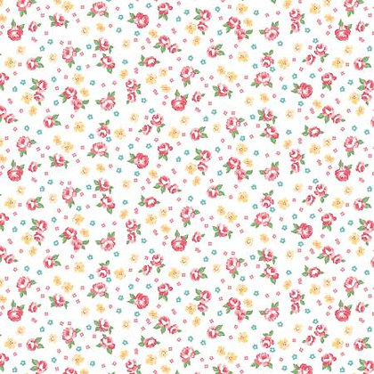 Notting Hill - Floral White - 1/2 meter