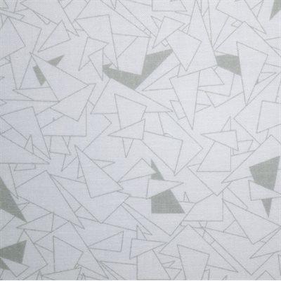 Muslin Prints (Grey/White) -  Wideback - 1/2 meter