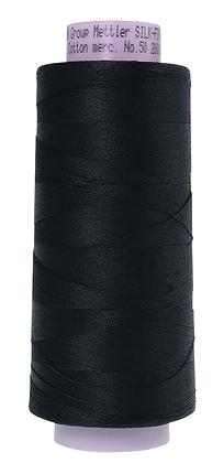 Mettler 100% Cotton Thread (50 wt) - Black #4000