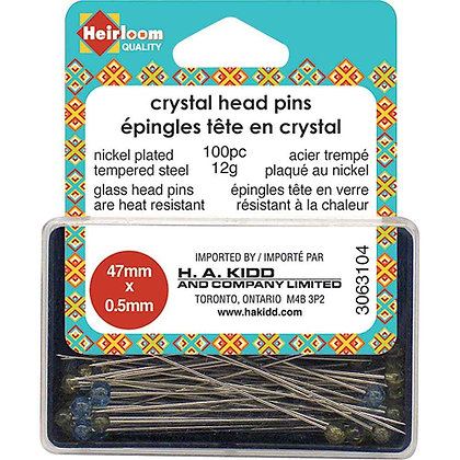 Crystal Head Pins
