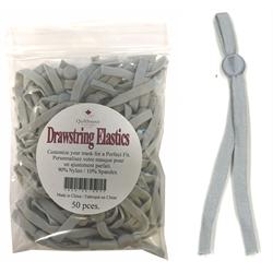 Drawstring Mask Elastic - Grey