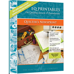 EQ Printables - Quilter's Newsprint