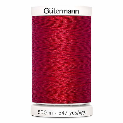 Gutermann 100% Polyester Thread - 500m - Scarlet Red