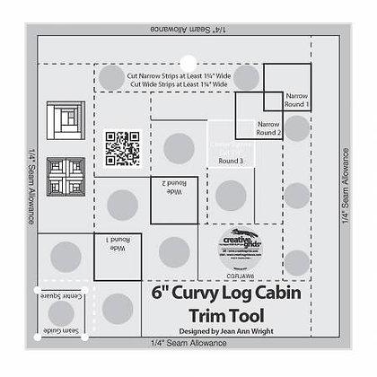 "Curvy Log Cabin Trim Tool - 6"""