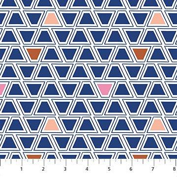 A Life in Pattern - Geo - Blue Multi - 1/2 meter