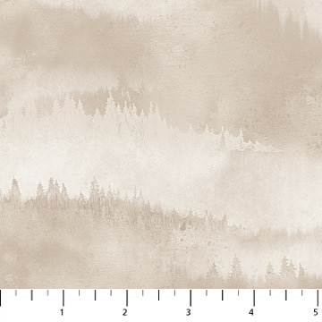 FLANNEL - Misty Mountain - Taupe - 1/2 meter