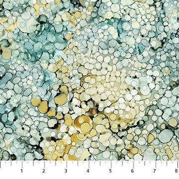 Journey - Bubble Texture Teal Multi - 1/2 meter