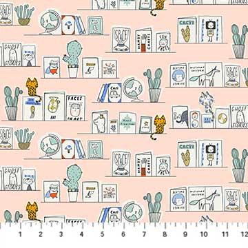 Book Club - Frames Pink - 1/2 meter