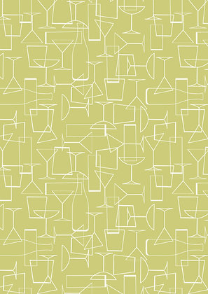 Cocktail Party Glasses - Chartreuse - 1/2 meter