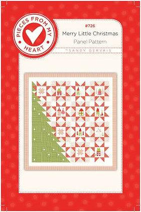 Merry Little Christmas Panel Pattern