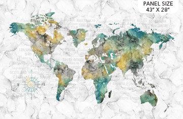Journey - Map White Multi - Panel