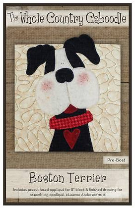 Boston Terrier - Precut Fused Applique Pack