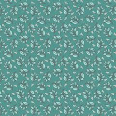 Cherished Moments - Berry Branch Teal - 1/2 meter