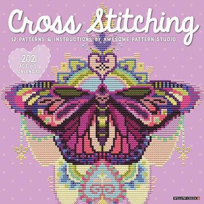 2021 Cross Stitching Wall Calendar