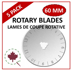 60mm Rotary Blades  - 5 Pack