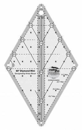 60 Degree Diamond Mini Ruler - Creative Grids