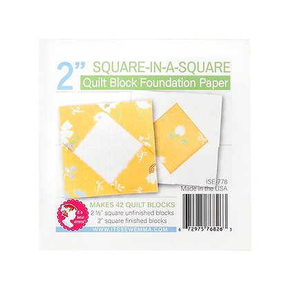 """2"""" Square-In-A-Square Quilt Block Foundation Paper"""