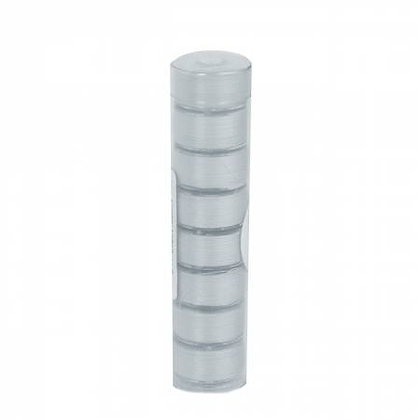 Clear-Quilt Pre-wound Class 15 Bobbins - Light Grey - 8 Count